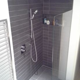 modern shower building
